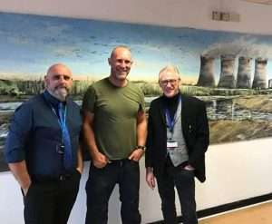 Shaun, Lee and Denis Taylor at Fiddlers Ferry